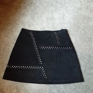Express faux suede skirt, size 8